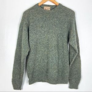 WOOLRICH sweater Large green wool pullover o1313